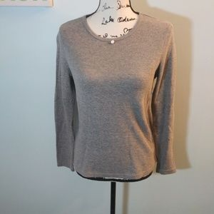 GAP Waffle Knit Crew Neck Long Sleeve Shirt